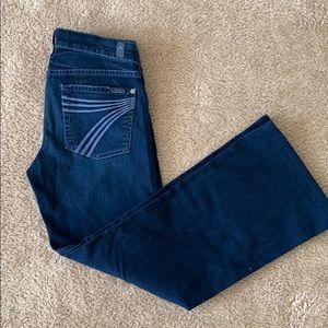 7 for all mankind Jeans Dojo wide leg jeans sz 27